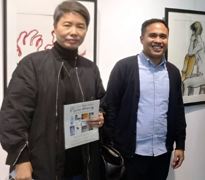 Fr. Jason at Gallery Exhibition