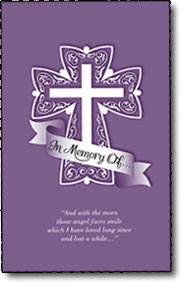 In Memory Of prayer booklet
