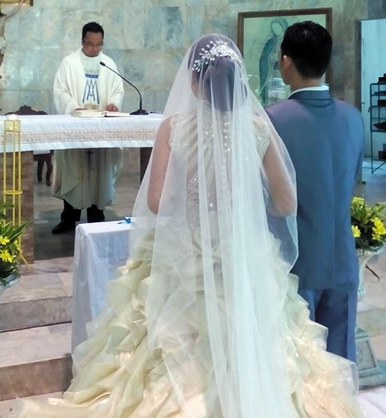 Fr. Kurt Zion Pala officiates his sister's wedding