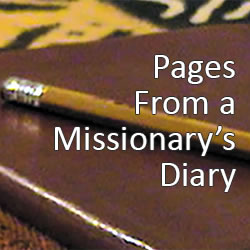 Pages from a missionary's diary