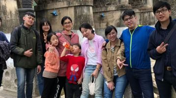 Taiwan youth group on an outing
