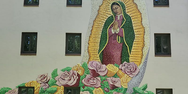 Our Lady of Guadalupe mural at St. Columbans, Nebraska