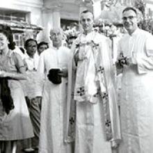 Columban Frs. Colm Brady, R. McNicholas and Q. Kalick